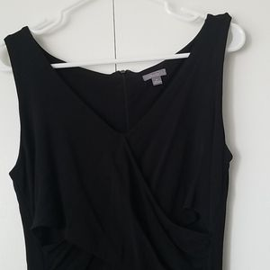 Ann Taylor Black Faux Wrap Dress 4P
